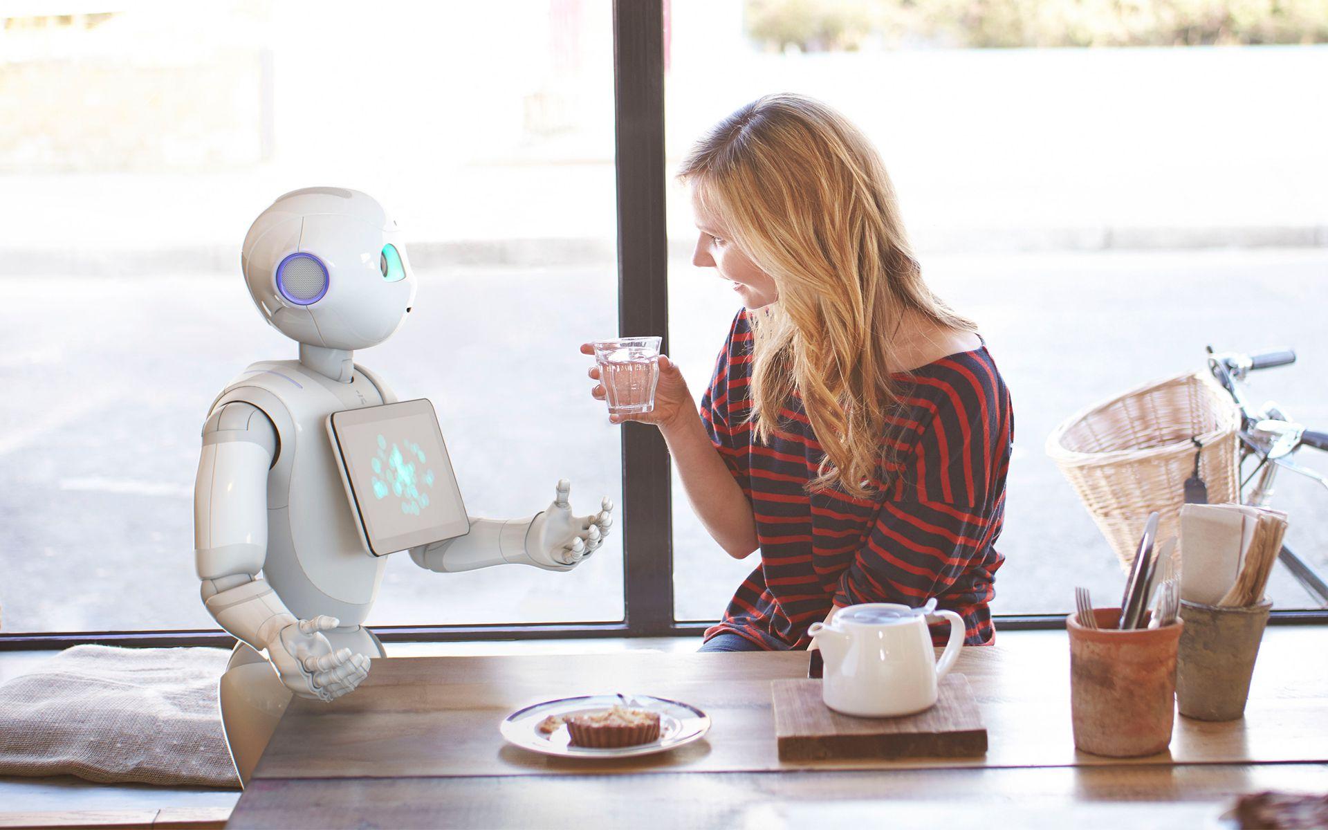 Pepper der kleine Roboter von Hefel Wohnbau